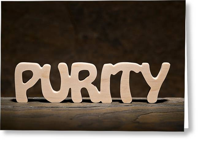 Purity Greeting Card by Donald  Erickson