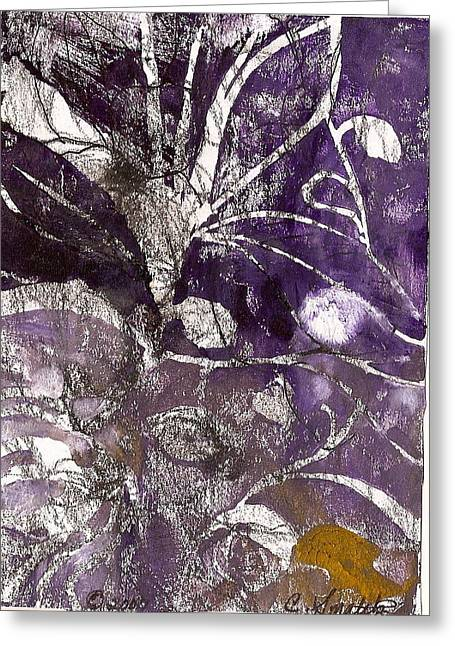 Lines Reliefs Greeting Cards - Purity is Passion Greeting Card by Claudia Smaletz