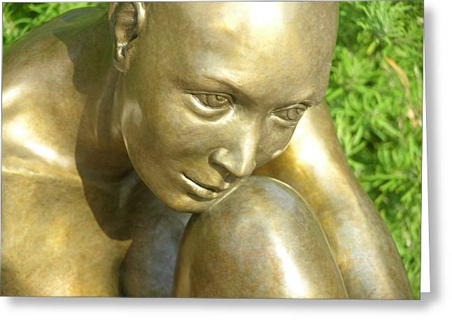 Figurative Sculptures Greeting Cards - Purity Greeting Card by J Anne Butler