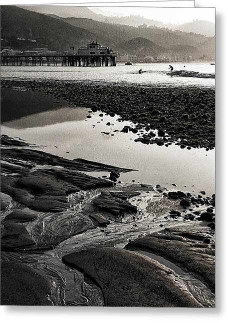 Pier Pilings Greeting Cards - Purity Greeting Card by Ron Regalado