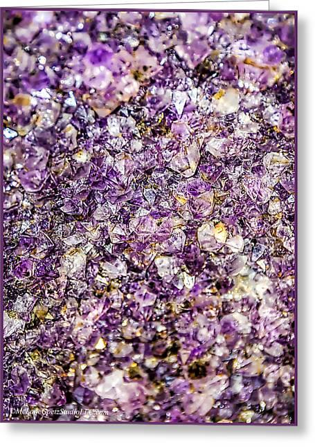 Birthstone Greeting Cards - Purple Amethyst Stone Greeting Card by LeeAnn McLaneGoetz McLaneGoetzStudioLLCcom