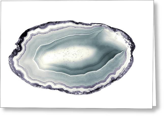 Purple And Teal Agate Stone I Greeting Card by South Social Studio