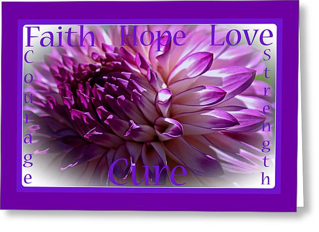 Adhd Greeting Cards - Purple Awareness Support Greeting Card by Roger Reeves  and Terrie Heslop