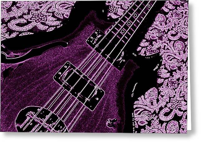 Purple Bass Greeting Card by Chris Berry