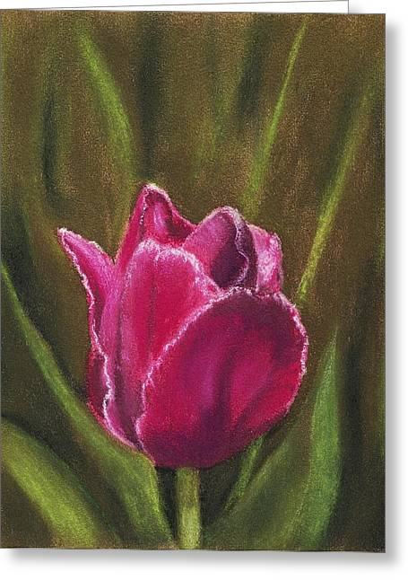 Canada Pastels Greeting Cards - Purple Beauty Greeting Card by Anastasiya Malakhova