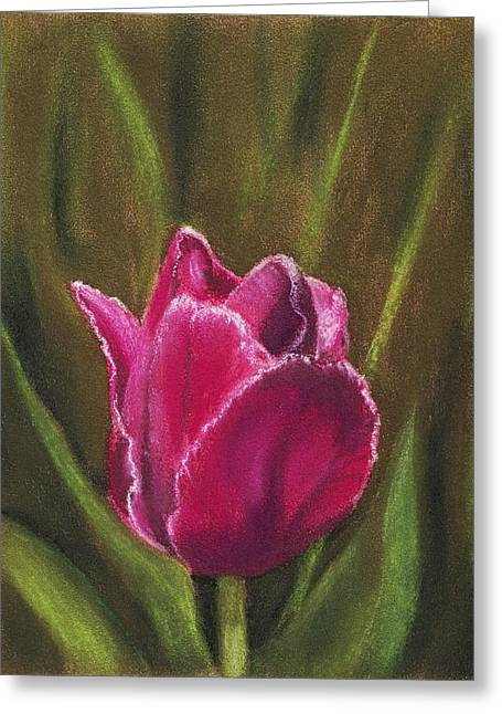 Beauty Pastels Greeting Cards - Purple Beauty Greeting Card by Anastasiya Malakhova