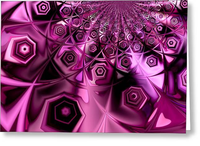 Beehive Greeting Cards - Purple Beehive Greeting Card by Hakon Soreide