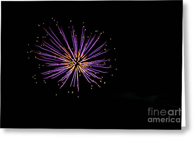 4th July Photographs Greeting Cards - Purple Blast Greeting Card by Robert Bales