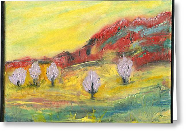 Pippen Paintings Greeting Cards - Purple Blossoms Greeting Card by Jo-Anna Pippen