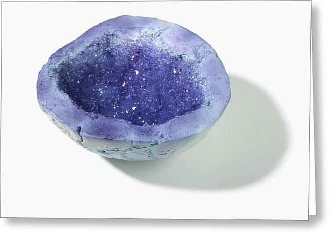 Purple-blue Geode Greeting Card by Dorling Kindersley/uig