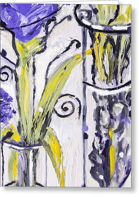 Purple Abstract Greeting Cards - Purple by Stan Bialick Greeting Card by Sheldon Kralstein