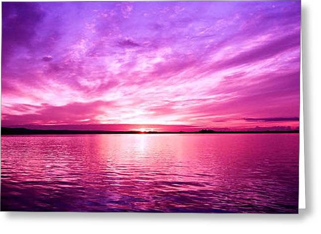 Surises Greeting Cards - Purple Candy .Sunrise Greeting Card by Geoff Childs