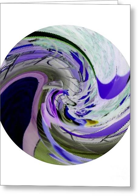 Peepholes Greeting Cards - Purple Circles Greeting Card by Caroline Gilmore