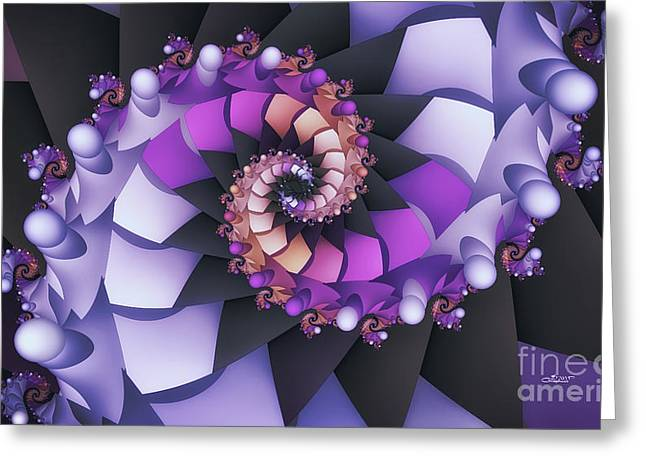 Repetition Greeting Cards - Purple Dance Greeting Card by Jutta Maria Pusl