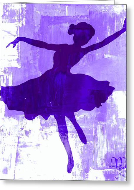 Acylic Painting Greeting Cards - Purple Dancer Greeting Card by Mindy Bench
