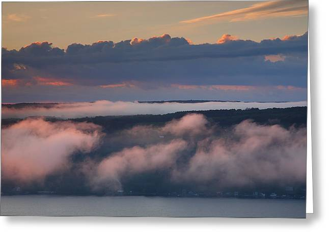 Keuka Greeting Cards - Purple Dawn Greeting Card by Steven Ainsworth