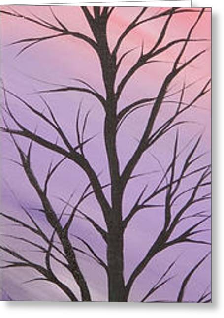 Landscape Posters Greeting Cards - Purple day Greeting Card by Roni Ruth Palmer