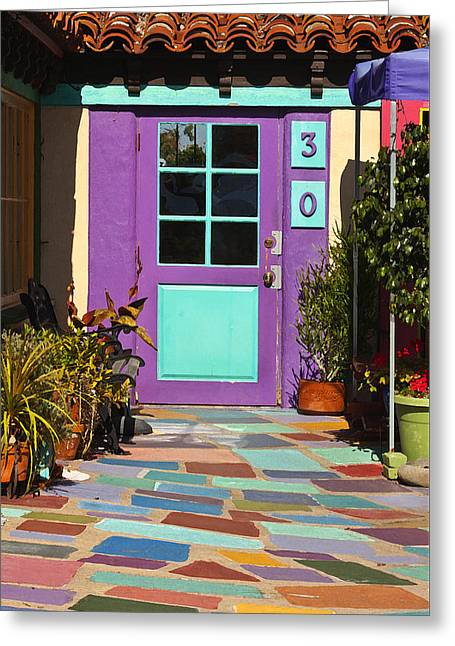 Purple Door Greeting Card by Art Block Collections
