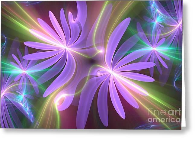 Purple Dream Greeting Card by Svetlana Nikolova