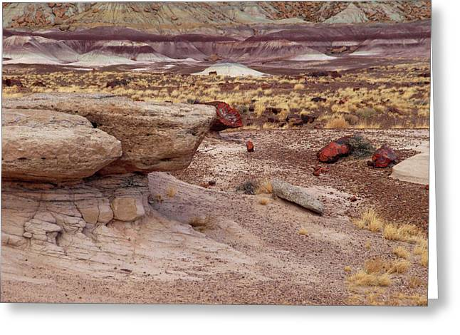 Purple Mudstone Greeting Cards - Purple Earth Greeting Card by James Peterson