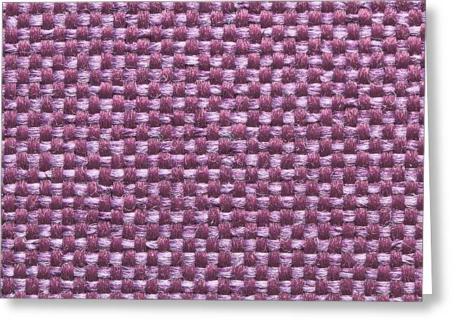 Purple Abstract Greeting Cards - Purple fabric Greeting Card by Tom Gowanlock
