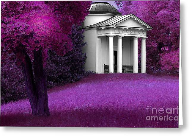 Hallucination Greeting Cards - Purple Fantasy Greeting Card by Mike Nellums