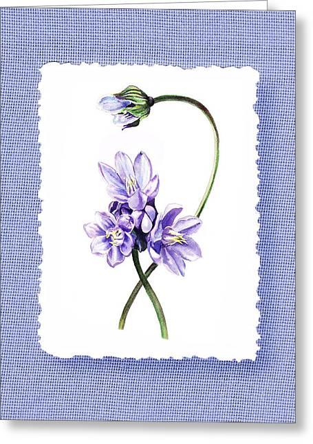 Purples Greeting Cards - Purple Flowers Serenade Botanical Impressionism Greeting Card by Irina Sztukowski