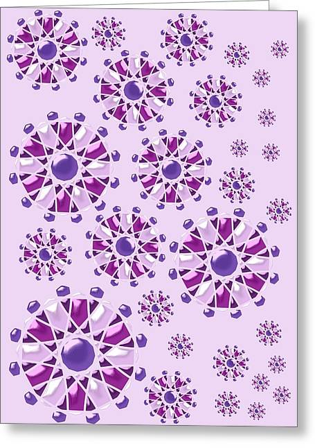 Purple Gems Greeting Card by Anastasiya Malakhova