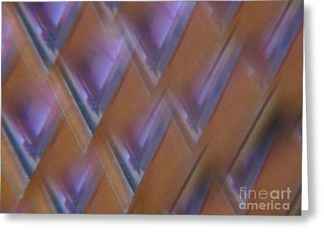 Geometric Artwork Drawings Greeting Cards - Purple Geometry - Abstract Greeting Card by Tara  Shalton