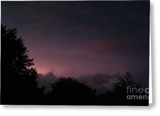 Storm Lovers Art Greeting Cards - Purple Haze After Storm Greeting Card by Gail Matthews