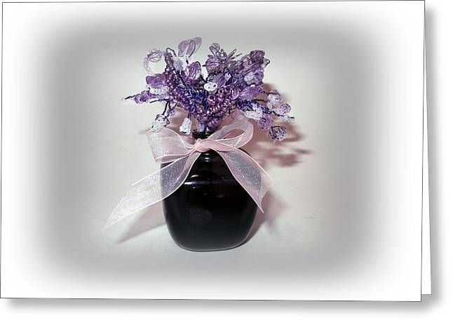 Silver Sculptures Greeting Cards - Purple Haze Greeting Card by Joyce  McCormick-Mabry