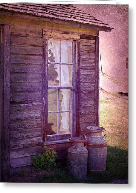 Purple Haze On The Prairie Greeting Card by Judy Hall-Folde