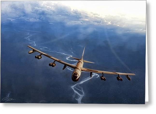 B-52 Greeting Cards - Purple Haze Greeting Card by Peter Chilelli