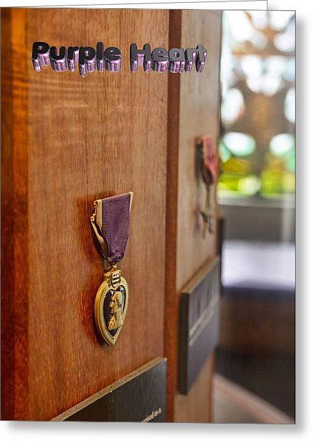 Commendation Greeting Cards - Purple Heart Greeting Card by Douglas Barnard