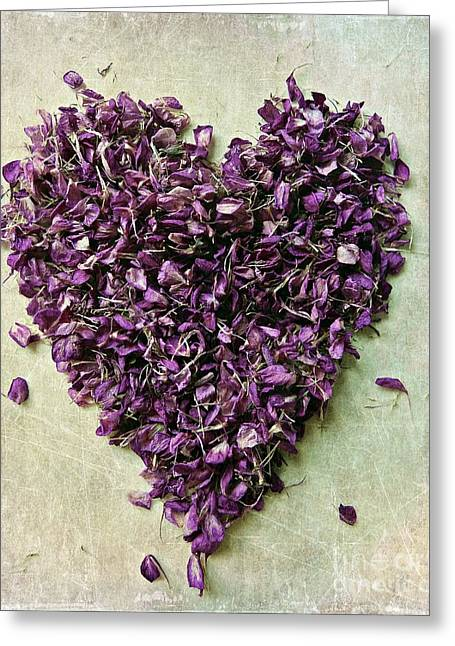 Special Occasion Digital Art Greeting Cards - Purple Heart Greeting Card by Patricia Strand