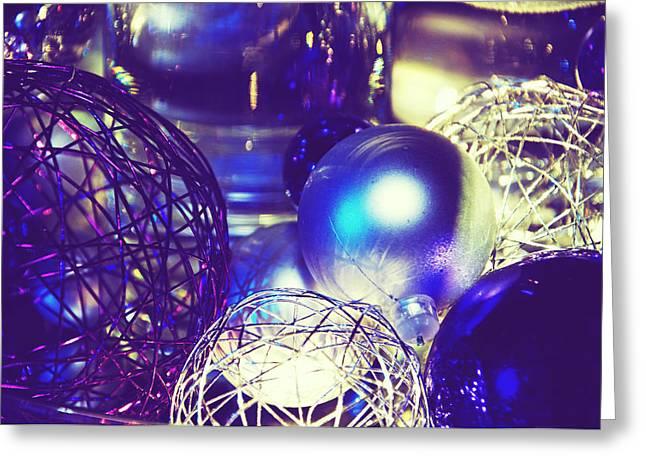 Purple Holidays Card Greeting Card by Lisa Knechtel