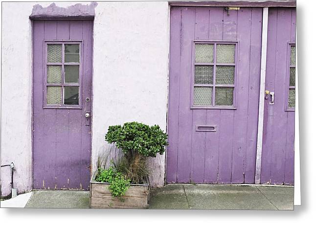 Purple House Greeting Cards - Purple House Greeting Card by Lupen  Grainne