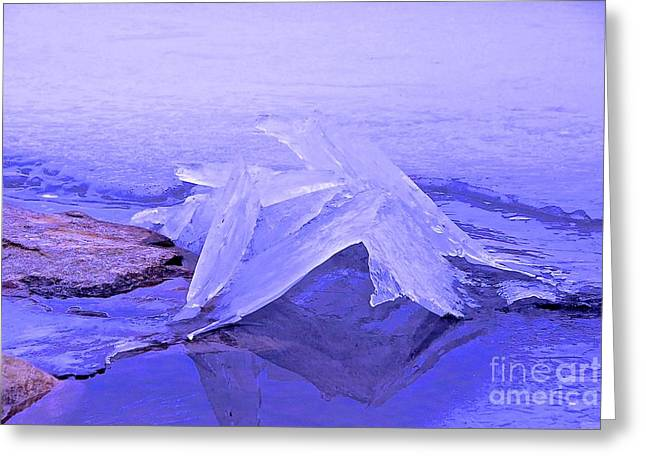 Randi Shenkman Greeting Cards - Purple Ice Greeting Card by Randi Shenkman