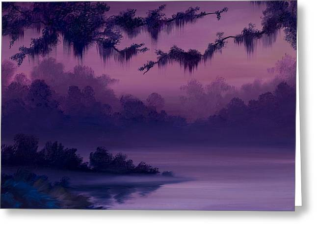 """""""jungle Vines"""" Greeting Cards - Purple Jungle Greeting Card by James Christopher Hill"""