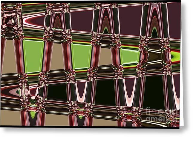 Carol Groenen Abstract Greeting Cards - Purple Leaves Abstract Greeting Card by Carol Groenen