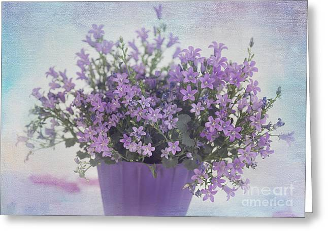 Potted Plant Digital Art Greeting Cards - Purple Lover Greeting Card by Carolyn Rauh