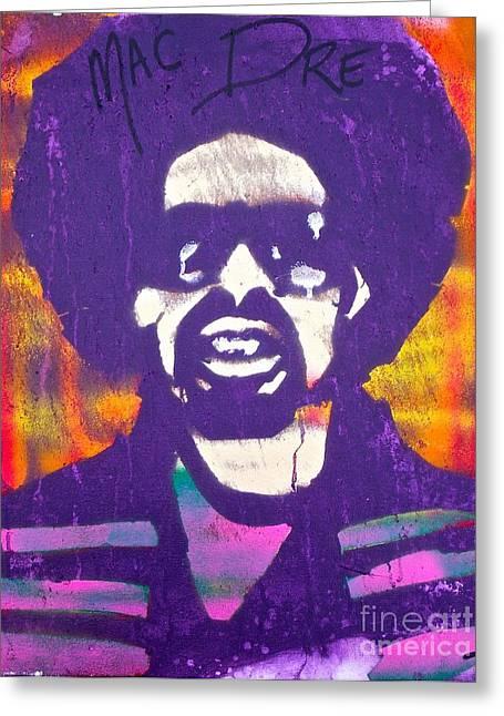 Purple Mac Dre Greeting Card by Tony B Conscious