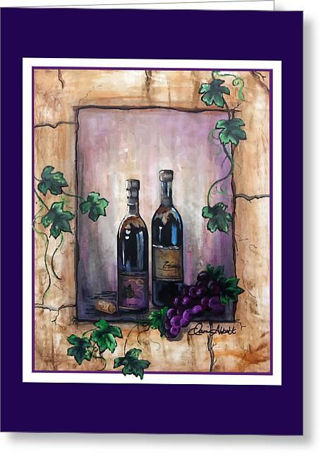 Print Greeting Cards - Purple Memories Greeting Card by Danise Abbott