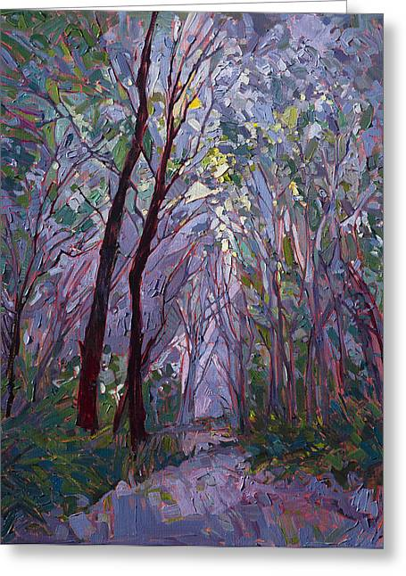 Erin Greeting Cards - Purple Mist Greeting Card by Erin Hanson