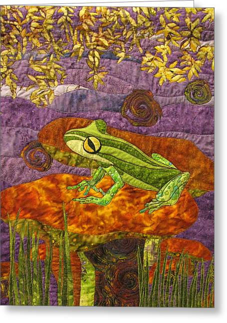 Amphibians Tapestries - Textiles Greeting Cards - Purple Mist Greeting Card by Lynda K Boardman