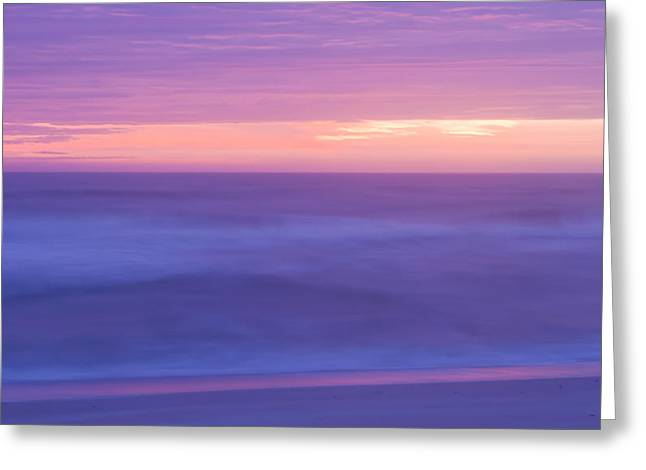 Atlantic Beaches Pastels Greeting Cards - Purple Morning Greeting Card by Jack Zievis