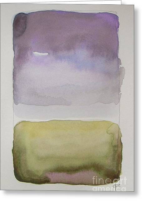 Purple Morning Greeting Card by Vesna Antic