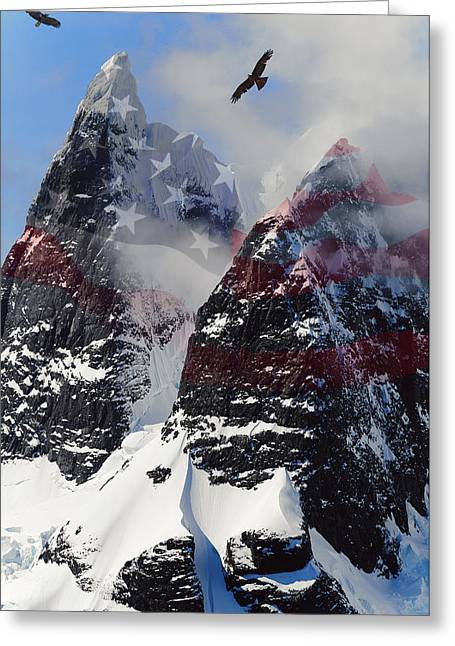 Bird Summit Greeting Cards - Purple Mountain Majesties Greeting Card by Daniel Hagerman