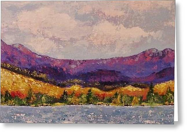 Mbobb Greeting Cards - Purple Mountain Majesty Greeting Card by Margaret Bobb