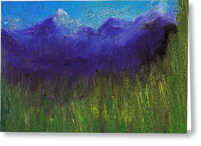 Abstract Digital Pastels Greeting Cards - Purple Mountains by jrr Greeting Card by First Star Art